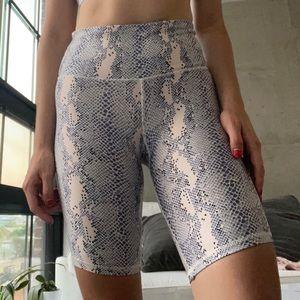 """faux-snake print 8"""" biker shorts"""